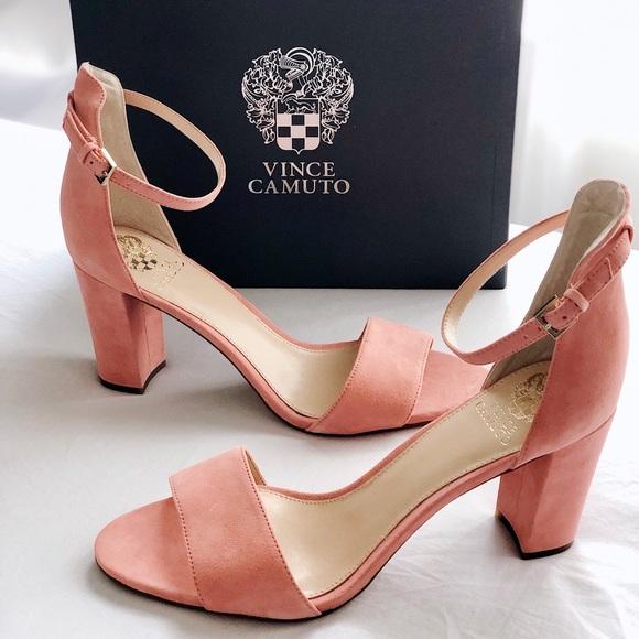 916eb162a255 ✨New VINCE CAMUTO Corlina Suede Heel Sandals Coral